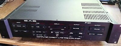 SAE P101 Vintage Stereo Preamplifier - As Is - For Parts or Repair Only