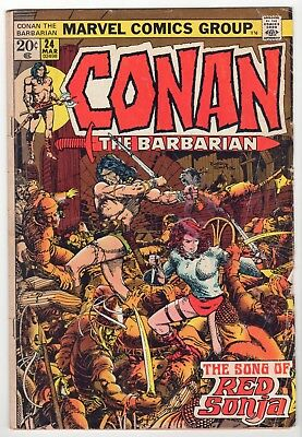 Conan the Barbarian #24 GD first full RED SONJA Barry Windsor Smith Marvel 1973