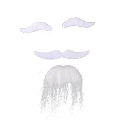 Three PC Halloween Costumes Self Adhesive Fake Eyebrows Beard Moustache Goate
