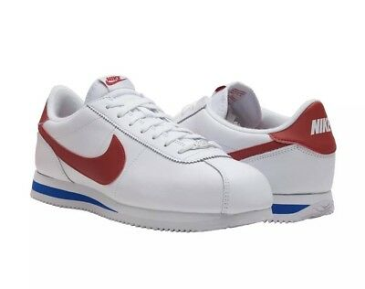0dd0607ed30c Nike Cortez Basic Leather OG FORREST GUMP White Red 882254-164 Size 10.5  Mens