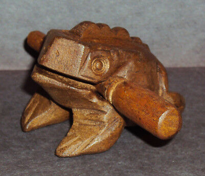 Ancient Siamese Wooden Croaking Frog Musical Instrument! Good Luck and Fortune!