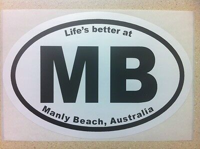 Life's better at MANLY BEACH, Australia - Sticker / BONDI BEACH surfboard