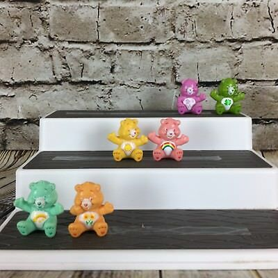 "Care Bears Lot of (6) Different Vintage 1.75"" Tall Sitting PVC Figures"