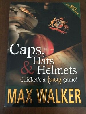 Max Walker Book Caps, hats & helmets : cricket's a funny game! SIGNED COPY