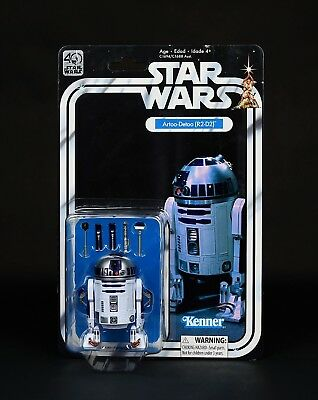 Star Wars 6in. Artoo-Detoo R2-D2 40th Anniversary The Black Series ANH Kenner