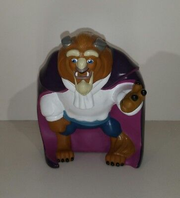 Beauty and the Beast Disney BEAST Piggy/Coin Bank ~ Hard Plastic