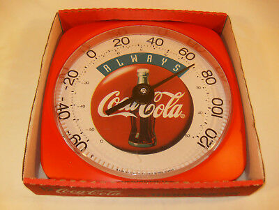 1994 Colorful Always Coca-Cola 12 inch Thermometer - Boxed - NOS