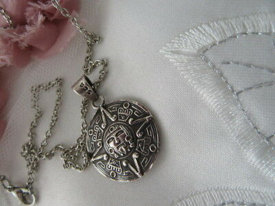 Stunning Vintage, 2 Hallmarks, Double Sided Celtic S/sl Style Pendant And Chain