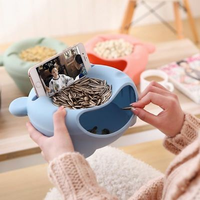 Multi-functional Big Lazy Bear Friut Box Snack Plate With Phone Bracket Stand