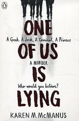 One Of Us Is Lying by Karen McManus New Paperback Book, INTERNATIONAL BESTSELLER