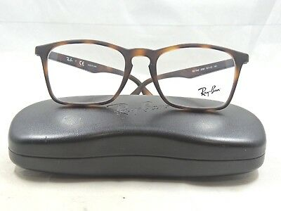 Ray Ban 7045 5365 Matte Tortoise Eyeglass Frames With Case 53 18 140 #R16