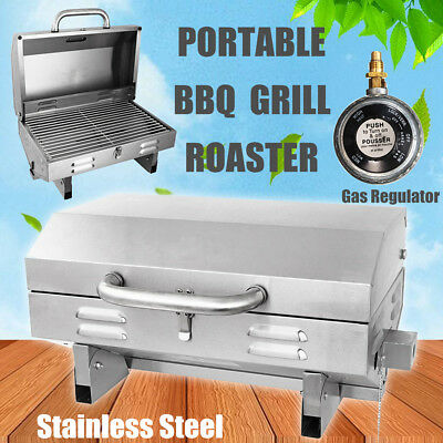 BBQ Portable Boat Gas Barbeque Grill Burn Oven Stainless Steel Caravan Marine