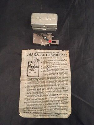 Rare Vintage Antique Miniature Autoknips 11 With Box Instructions