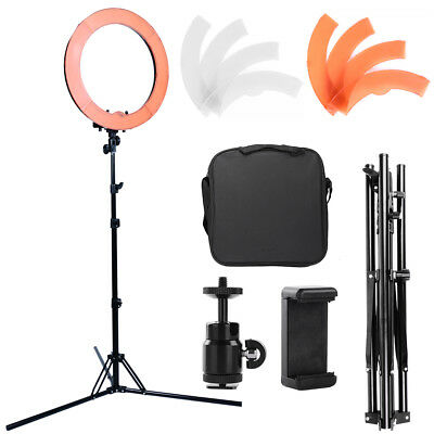 "Photo Dimmable 19"" 75W Fluorescent 5500K Ring Light w/ Tripod Stand Studio Kit"