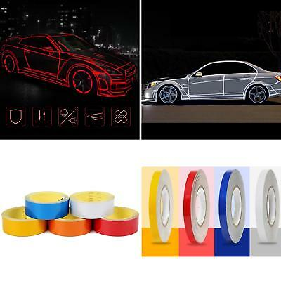 EP_ Car Bicycle Reflective Safety Warning Tape Truck Cool DIY Decor Sticker Deca