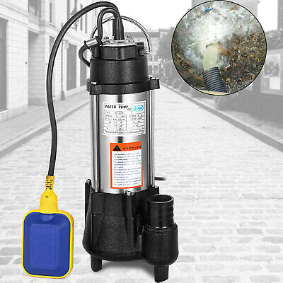 370W Submersible Sewage Dirty Water Pump Cast Iron Heavy Duty 20'' Cable 1850GPH