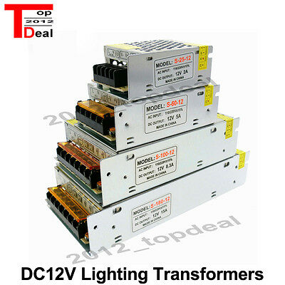 5A 10A 20A 30A 12VAC/DC Voltage Converter Regulated Switch Power Supply for LED