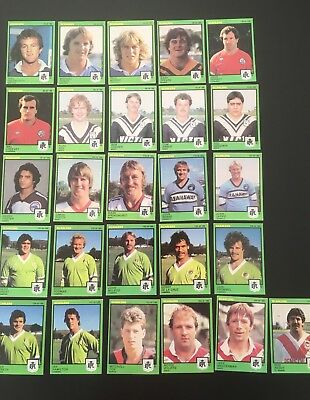 1982 Scanlens NSWRL NRL Footy Collector Cards