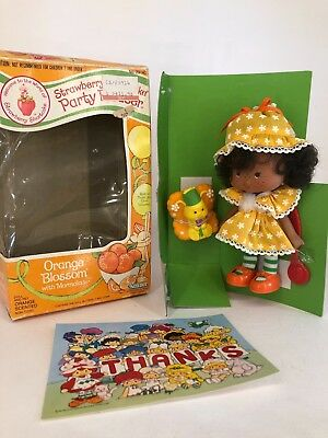Vintage 1980s Strawberry Shortcake - Party Pleaser - Orange Blossom