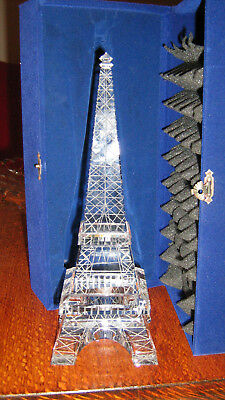 Glass or Crystal Etched Eiffel Tower