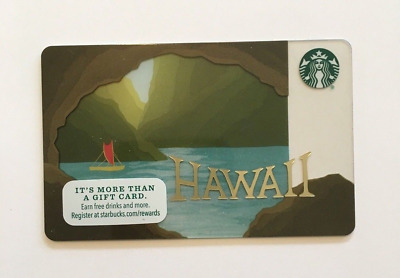 2016 NEW Starbucks Hawaii Limited Edition Cave Canoe Gift Card **Free Shipping