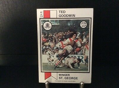 Rugby League Scanlens Ted Goodwin 1974 No 87