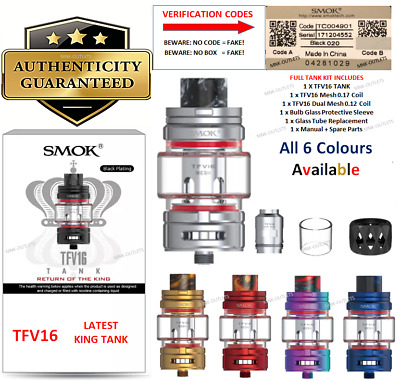 SMOK TFV12 Cloud BEAST KING Sub ohm Tank : 100% GENUINE: FULL TANK KIT
