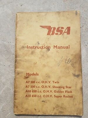 BSA Instruction Manual A7 To A10