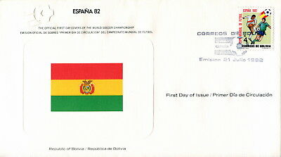 1982 Bolivia Football World Cup First Day Cover. Royal Spain Football Federation