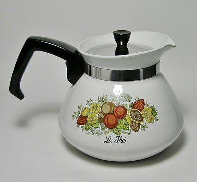 """Vintage CORNING WARE """"SPICE of LIFE"""" * Le The * 6 Cup TEA POT c1972-87"""