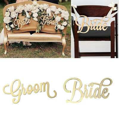 ep_ rustic wooden bride and groom letter chair back hanging sign wedding decor n