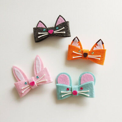 EP_ HK- Fashion Girls Hair Clips Animal Design Barrettes Children Kids Hairpin S