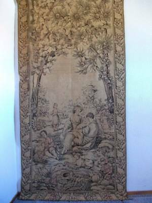 French Chateau Tapestry Pleasant Farming  Country Scene 230cm x 121cm