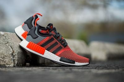 save off ab479 f66ff ADIDAS NMD_R1 S79158 Lush Red White Black NMD Orange Infrared Boost OG NEW  DS