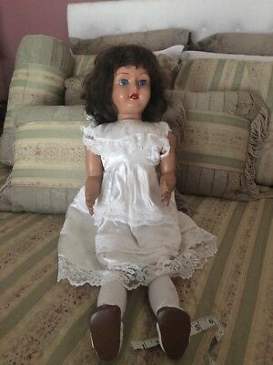"""Vintage Antique Doll 30"""" Tall Moving Head When Walking"""