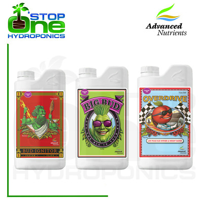 Advanced Nutrients Bud Ignitor Big Bud Overdrive 1 Litre Hydroponic Bud Booster