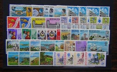 Bermuda 1967 1971 Golf Voyage Telephone Post Office Human Rights Olympics MNH