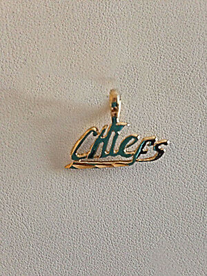 Kansas City Chiefs Team Name Necklace Pendant Charm  24k Gold Plated CHIEFS