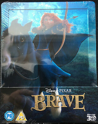 Disney Pixar Brave 3D/2D BluRay Steelbook BRAND NEW SEALED Limited Edition
