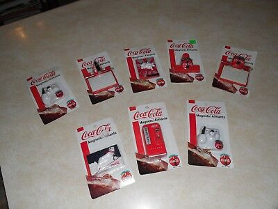 COCA-COLA Refrigerator Magnets 1995-1998 (lot of 8) New In Package ~ Coke