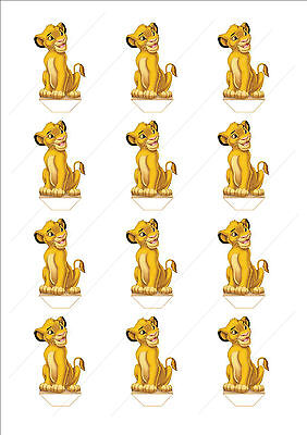 Novelty Lion King Simba Edible Cake Cupcake Toppers Decorations Birthday Cute