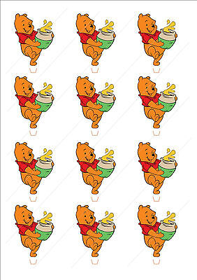 Novelty Winnie The Pooh Edible Cake Cupcake Toppers Decorations Birthday Bear