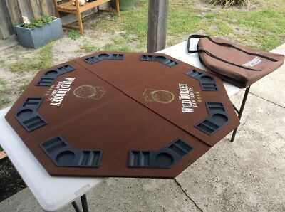 Wild Turkey Promotional Folding 8 Player Poker Table Top; With Case; Octagon