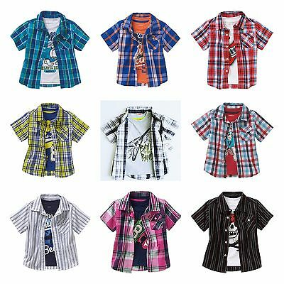 New Boys Button Down Woven shirt and Graphic Tee shirt set 12M 18M 2T 3T 4T 5T