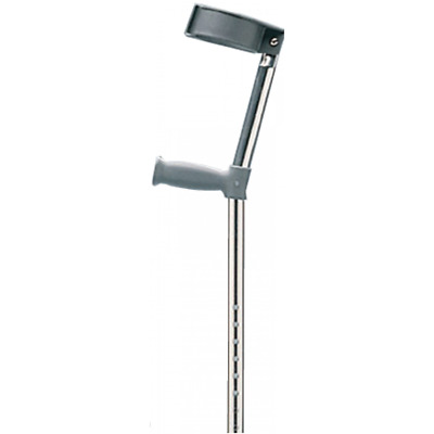 Ergonomic Grip Forearm Crutches (Pair) - Lightweight & Strong, Max 160kg