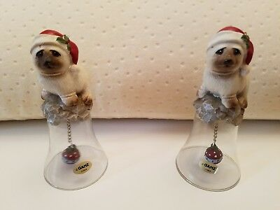 collectible glass bells in new condition