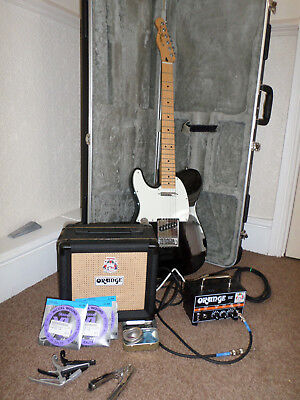 Fender Telecaster MIM Left Handed, Orange Micro Dark Amp and Speaker, hard case