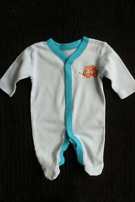 Baby clothes BOY premature/tiny<6lbs/2.7kg blue/turquoise babygrow SEE SHOP!