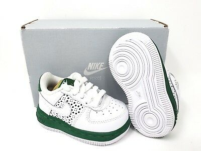 0c5ef9960221 NIKE FORCE 1 Infant Toddler Size 3c Athletic Sneakers White   Pine Green  NEW -  34.95