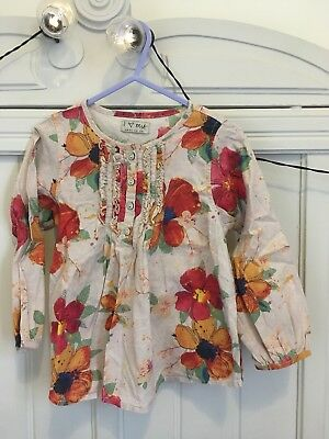 Next Baby Girls 18-24 Months Floral Blouse Top VGC